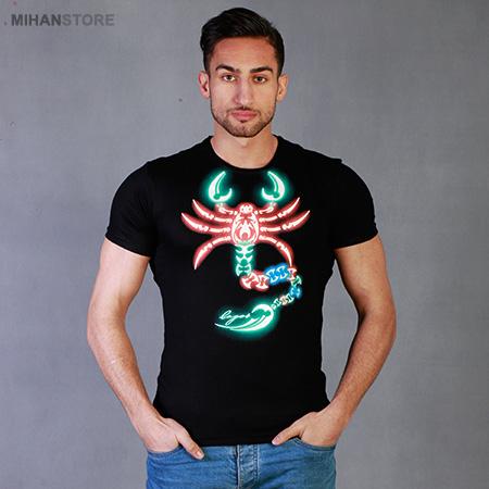 تی شرت شب نما طرح عقرب Scorpion ستوده 2018