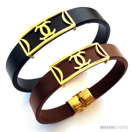 دستبند چرم طرح شنل Chanel Bracelets