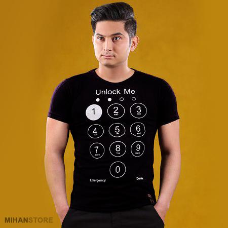 تیشرت مردانه طرح آنلوک می Unlock me