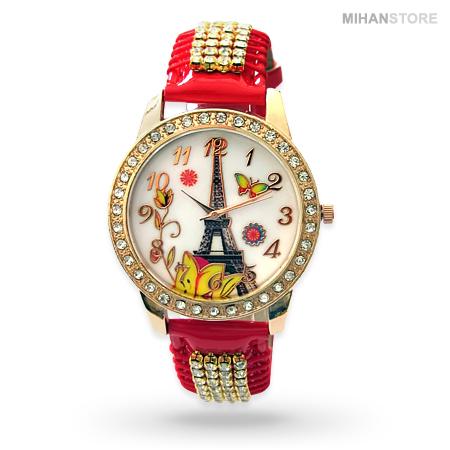 ساعت مچی دخترانه طرح برج ایفل Eiffel Tower Watches