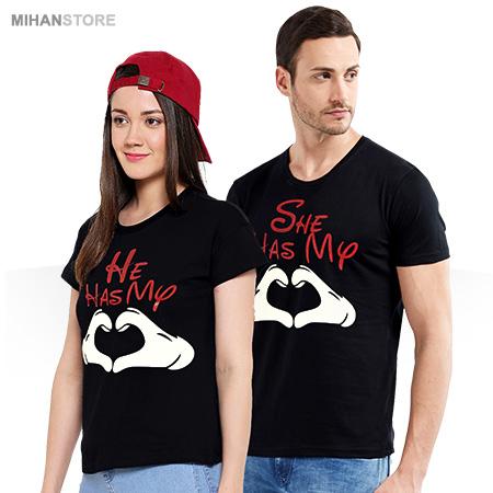 ست تی شرت مردانه و زنانه رمانتیک Romantic