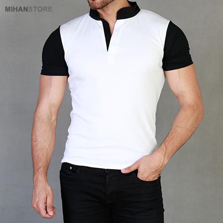 تی شرت مردانه یقه گرد وایت White