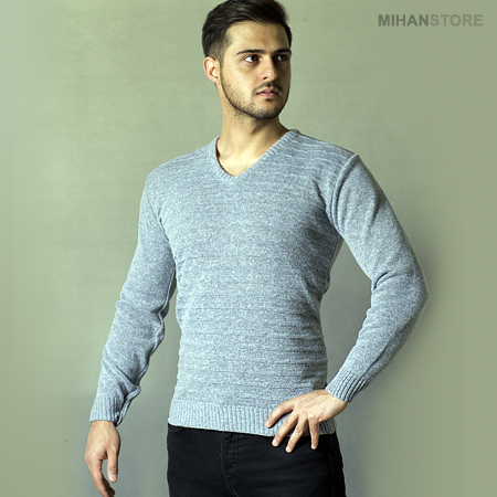 بافت زمستانه مردانه گری Gray Men Shirts