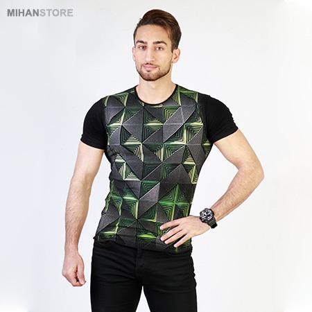تی شرت پسرانه سه بعدی بلک لایت Maze 3Dimentional T-shirts