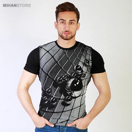 تی شرت سه بعدی طرح تیله Marbles