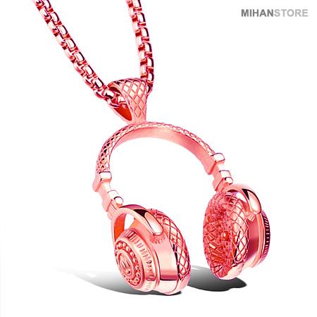 گردنبند لاکچری طرح هدفون Luxurious HeadPhone