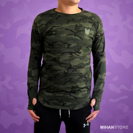 بلوز مردانه طرح ارتشی Camouflage Sleeve Shirts
