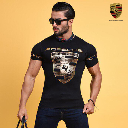 تی شرت مردانه و پسرانه طرح پورشه Porsche