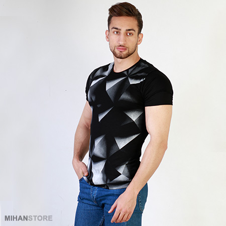 تی شرت مردانه سه بعدی هرمی Pyramid
