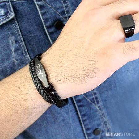 خرید پستی دستبند لاکچری چرم اصل