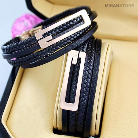خرید پستی دستبند چرم طرح Gucci