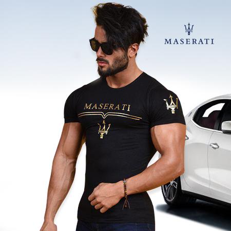 تیشرت پسردانه و مردانه طرح مازراتی Maserati