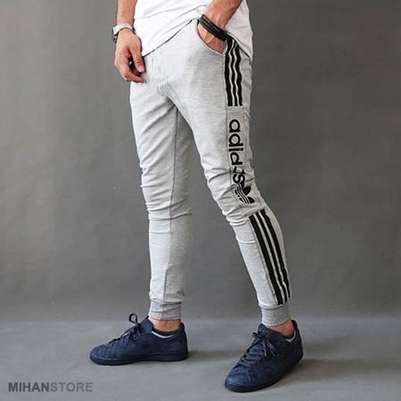 شلوار اسلش مردانه آدیداس Adidas طرح گری Grey