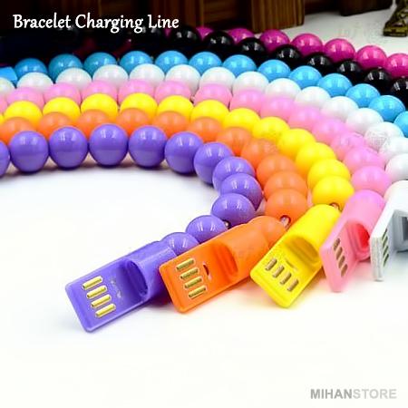 کابل موبایل طرح دستبند Bracelet Charging Lines