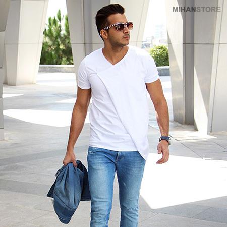 خرید پستی تی شرت لانگ مردانه مدل Smith