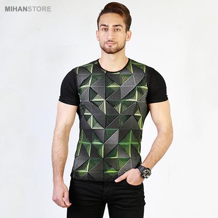 تی شرت سه بعدی بلک لایت مارپیچ Maze