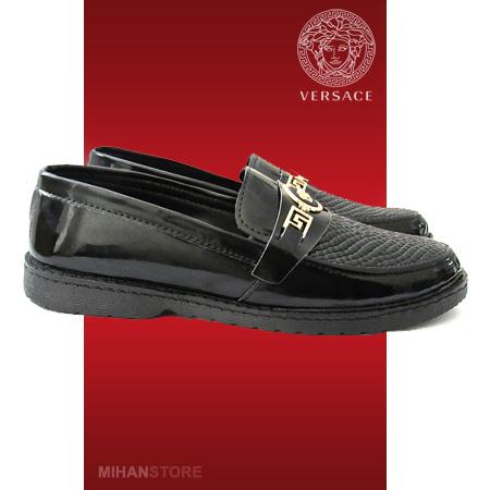 خرید پستی کفش ورنی مردانه و پسرانه ورساچی Versace