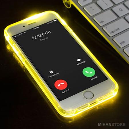 خرید پستی  محافظ ژله ای نورانی آیفون iPhone light Up Case
