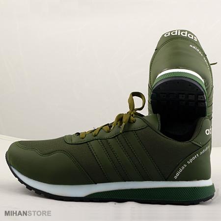 کفش مردانه و پسرانه آدیداس Adidas طرح فندی Fendi به رنگ سبز