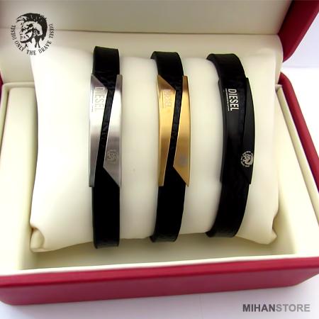 دستبند چرم طرح دیزل Diesel Bracelets