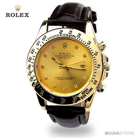 ساعت بند چرم رولکس Rolex مدل وینر Winner