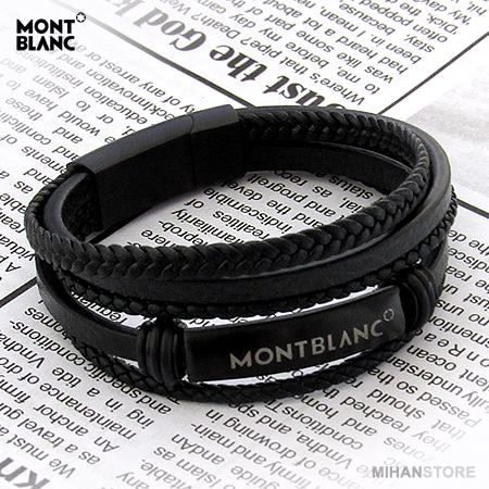 دستبند چرم طرح Montblanc